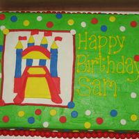Bounce House To match an invitation. All buttercream with fondant accents