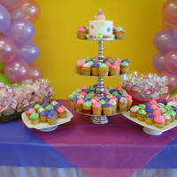 Cupcakes, Cakes, & Cookies I did this cupcake tower with sugar cookies for a baby shower. The cupcakes were vanilla cake & the topper cake was carrot cake. First...