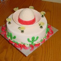 Mexican Holiday this cake was made with fondant and almond dough