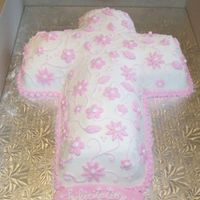 Confirmation Or First Communion My first cake with fondant