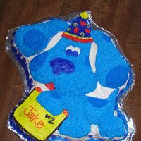 Blue's Clues Cake Easy and cute.