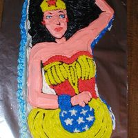 Wonder Woman This isn't the most beautiful attempt at a Wonder Woman cake, but my sister was happy with it. I would have used stars on the skin if...