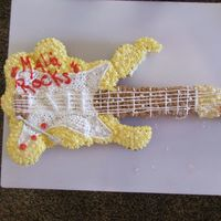 2Nd Try Guitar Cake I made this for my grandaughter today The first one fell off the table ( I still dont know how) and I only had 2 hours before birthday time...