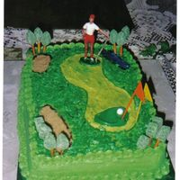 Cakes.jpg First Golf cake. 9x13 done in buttercream and filled with strawberry