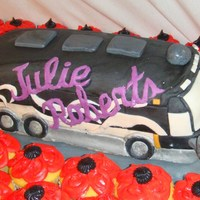 Tour Bus I made this cake for the country music singer, Julie Roberts, birthday this year.