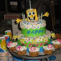 Jacob's B-Day I got this idea from one of wilton magazine, I made it for 1 of my twin grandsons birthday party.