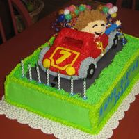 Isaac Birthday I made this cake for my Grandson's 7th Birthday, he seen the car cake in a wilton book, and really wanted it for his B-Day, and he...