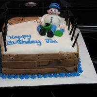 John's Birthday I made this cake for my son-in-laws birthday. It is done mostly in fondant.