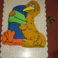 !st Birthday This cake was made in a old wilton big bird pan. I made this for my nephew's 1st birthday.