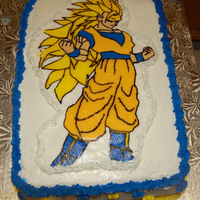 Goku I did a Buttercream Transfer. It came out GREAT!