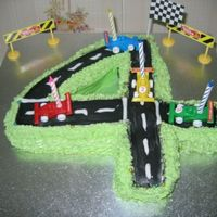 #4 Cake this is a cake I made for my friends son;s #4 birthdayeasy...