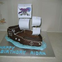 Pirate Ship A cake I made for a firneds son's brithday
