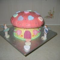 Mushroom Fairy a cake I made for a friends daughter