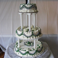 Tarrah's Wedding Cake Buttercream icingSilver and jade