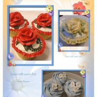 Flower Cupcakes A few of the different cupcakes that I've made this week. I've been experimenting with different cake recipes (using the leftover...