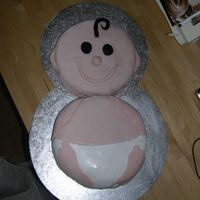 Another Baby-Cake! My first real cake. I thought it would be easy but it's not very smooth and the kitchen was an incredible mess!! I need to get...