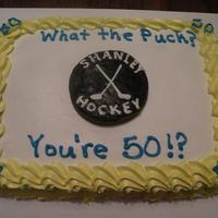 Hockey Cake What the Puck, You're 50?!