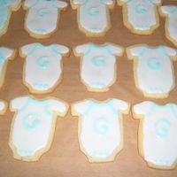 Onesie Cookies No fail sugar cookies and Toba Garrett's icing. This icing stays really shiny; I like it a lot!There's also chocolate ones made...