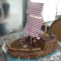 Pirate Ship Cake I made a pirate ship for my nephew´s 4th birthday. I´m quite happy with the way it turned out! Thanks for all the...