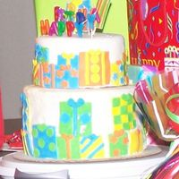 Presents Cake this is my cousins 8th birthday cake. i got this idea from the wilton celebrate with fondant book, it was pretty easy, i just started to...