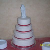 My Second Wedding Cake This was the cake I stayed up till 2am to finish. LOL. This is also the first cake that I assembled on site, rather nervewracking if I do...