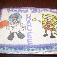 Girl's Birthday My daughter had a Spongebob Birthday party in preschool./They LOVED the cake. Spongebob and Sandy are FBCT's.