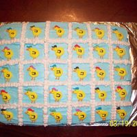 The Rubber Ducky Cake This was a precut cake for my daughters birthday in school. She has to bring either precut or cupcakes to school so there will be no knife...