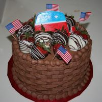 Godiva Chocolate Republican Cake This cake was done for a local candidate who's running for JP. I donated this and a white cake just like it for the auction. This is a...