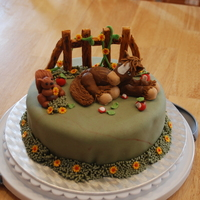 Horse Cake Cake I made for a charity auction. Based on a cake from Fun & Original Character Cakes by Maisie Parrish
