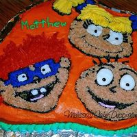Rugrats Birthday Cake This is the other first character cake I ever made.