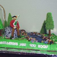 Geology/music Graduation Cake The best view of the cake done for a graduate with degrees in geology (ie the rocks) and music. He's an avid outdoorsman, too. The...