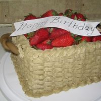 Basket Of Strawberries just a quick cake I did for my moms co-worker. I kinda like it, I hope I get a chance to do it again.