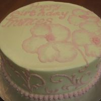 080832.jpg I prefer to work with fondant and I just have not mastered flowers..wouldn't you know that someone wanted an all buttercream cake with...