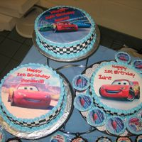 Cars Cakes And Cupcakes With Edible Images this was the first print out using the edible ink and sheets from icing images