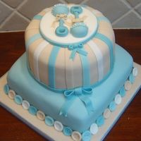 Rattle Baby Shower Cake