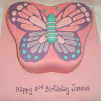 Butterfly Cake Sponge with sugarpaste. Butterfly body is sugarpaste, shamelessly copied from Angie Mosher (aka lexi55033) I could not resist, it was just...