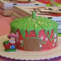 Strawberry Shortcake  I took all my inspiration from a cake I saw here. This cake was originally supposed to have some more details etc, but I had a little too...