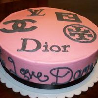 Designer Logo Cake A friend designed this cake for his girlfriend who is a designer fanatic.