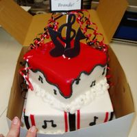 Music Lover   All buttercream with fondant accents.