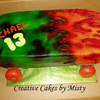 Skate Board   All buttercream airbrushed