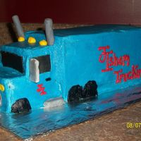 Semi Truck Thanks CC! I used two loaf pans, stacked and carved...buttercream and fondant accents...I have a lot of mistakes, but I learned a lot of...