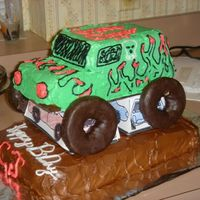 My Little Grave Digger I made this cake for my sons 5th birthday. My first try ever at a character cake I used some pans I had in the house nothing special! It...