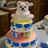 Bear Baby Shower This is from my baby shower. yes I made my own baby shower cake. I have always loved this cake and think I did pretty good on it. I am not...