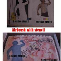 Airbrush Stencil Bd Cake I have included the picture of the stencil printed and cut from cardstock showing the positive image and the negative [ cut out portion ]...