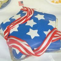 "Stars 'n Stripes This cake was made for the ""Stars and Stripes"" decorating category at the county fair. I got 2nd place!!!!"