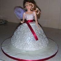 "Christmas Angel This cake was done for the ""Christmas"" cake decorating entry at the county fair. The judges cut into the back of it because they..."