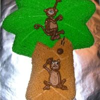 Clunk The Monkey This was a get well cake for my friend. It was the first shaped pan I have ever done. The monkeys were supposed to be made of Royal icing,...