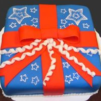 Happy Flag Day! This cake was for my course 3 class. It's the first time I've ever used fondant. I really like how it is to work with! Hope you...