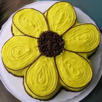 Black Eyed Susan Did this cake for the Preakness, but it was my first time icing a shaped cake...I think I'll stick to stars! What a bear! Then the...