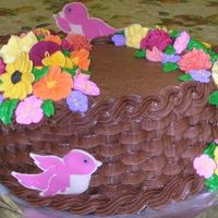 "Fall Basket Cake I finally finished my last Wilton course!!! I did them in random order. This is the final ""Basket Cake"" for course 2. I did it..."